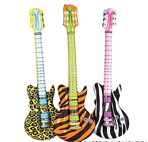 Rhode Island Novelty Safa PNT Guitar Inflatable Pack of 12