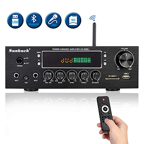 Cheapest Prices! Wireless Bluetooth Home Audio Amplifier – 400W Dual Channel Home Theater Sound Co...
