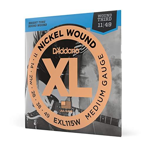 D'Addario EXL115W Saitensatz für E-Gitarre Light 0,03 cm - 0,124 cm (.011- .049 Zoll)