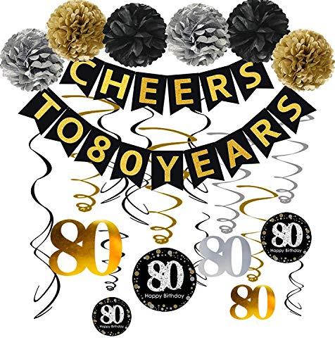 Cheers to 80 Years Decorating Kit