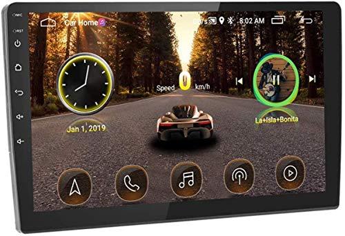 ZHBD Android 10.1 Navegación Estéreo para Automóvil, Radio De Automóvil Receptor 10 '' Double DIN Touch Pantalla Táctil Unidad con Bluetooth + FM + GPS + WiFi & Mirror Link, con Doble Entrada USB
