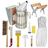 Cobeky Imkereibedarf Imkerwerkzeug für Imker Imkerei Starterset – Meißel, Bienenbürste, Raddraht Embedder