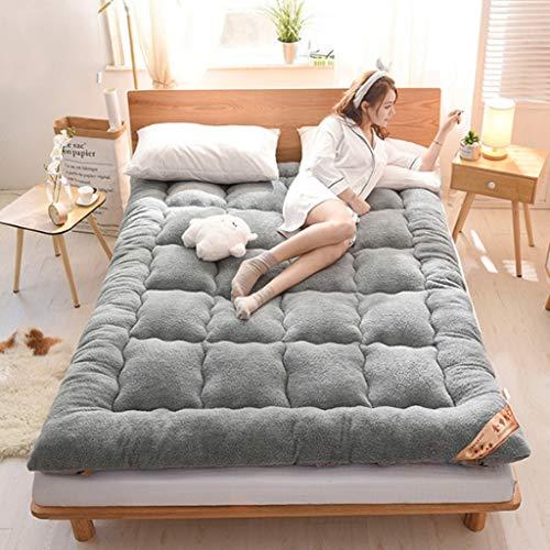 QVIVI Matelas Futon De Sol, Épaissir Moelleux Doux Et Respirant Tatami Sleeping Futon Coussin De Matelas Pliable Portable Easy Store, Économiser l'espace 1.8 * 2M