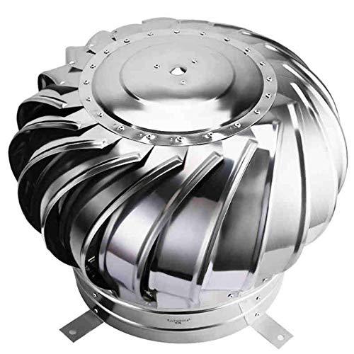 JXJ Rotierende Schornsteinkappe, 304 Edelstahl-Entlüftungshaube mit Vogelschutz-Regenschutz und Anti-Downdraught-Rauchschutz für 300-450 mm Pipefit, 400 mm