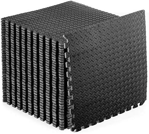 ProsourceFit Exercise Puzzle Mat 1 2 Black 144 product image