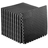 PROTECTIVE EXERCISE FLOORING - Durable, non-skid textured tiles protect floors while creating a comfortable workout space EASY ASSEMBLY – Lightweight interlocking foam tiles connect quickly and easily, and can be disassembled just as simply for quick...