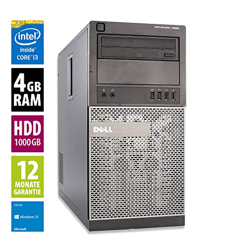 Dell Optiplex 7010 MT - Core i3-3220 @ 3,3 GHz - 4GB RAM - 1000GB HDD - DVD-ROM - Win10Home (Zertifiziert und Generalüberholt)