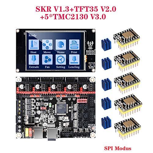 PoPprint SKR V1.3 32-Bit-CPU-Motherboard mit TFT35 V2.0-Touchscreen und 5-teiligem TMC2130 V3.0 SPI-Modus 3D-Druckerteile gegen MKS GEN L TMC2209