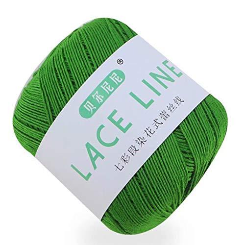 Hilo de encaje de algodón para tejer, ganchillo, costura, regalo creativo de Navidad para novios
