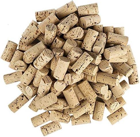 Lot de 100 bouchons à vin en forme de cœur pour les loisirs créatifs - En liège naturel - 4,5 cm de long - Diamètre 2...