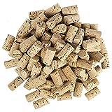 Lot de 100 bouchons à vin en forme de cœur pour les loisirs créatifs - En liège naturel - 4,5 cm de long - Diamètre 2,4 cm clair