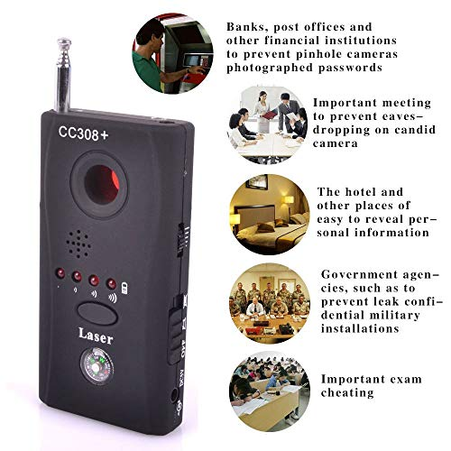 NOEzyf Rilevatore di Microfoni Spie, Rilevatore di Segnali RF Senza Fili, Telecamera Nascosta, Rilevatore RF Bug Finder 2020 Cc308