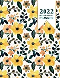2022 Planner Weekly and Monthly: 8.5' x 11' - Jan 2022 - Dec 2022 - 12 Month Planner, Calendar, Organizer with Holidays - Large - Watercolor Hand Drawn Floral and Leaves Cover - Yellow & Green