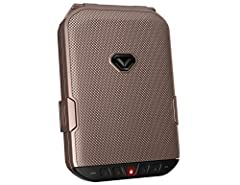 Portable case with a secure BUILT-IN LOCK SYSTEM. Integrating Vaultek's precision engineered safe technology and anti-impact latch design, LifePod travel cases feature a built-in lock allowing you to quickly lock LifePod for added security when neede...