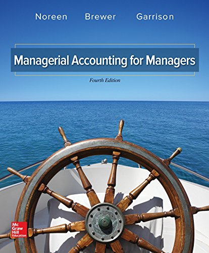 Managerial Accounting for Managers (IRWIN ACCOUNTING)