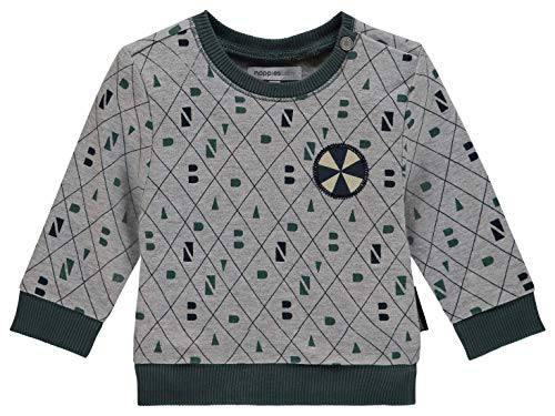 Noppies Noppies Baby-Jungen B Sweater ls Vernal AOP Sweatshirt, Mehrfarbig (Light Grey Melange C245), 56