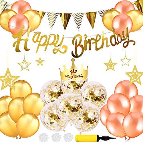 誕生日 飾り付け セット バルーン 風船 ゴールド HAPPY BIRTHDAY 装飾 バースデー ガーランド バースデー ...