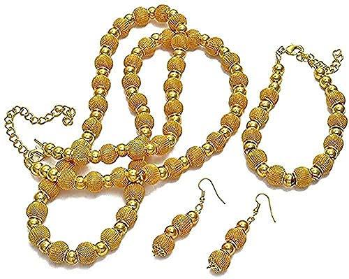 YOUZYHG co.,ltd Collar Collar de Perlas de 82 cm y Pulseras de 24 cm y Pendiente de Bola para Mujer