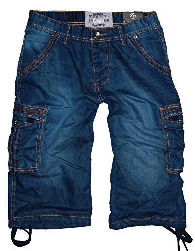 Highness-jeans heren Cargo driekwart jeans broek