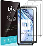 LϟK 3 Pack Protector de Pantalla para Xiaomi Redmi Note 9 Pro - Cristal Vidrio Templado Premium Dureza 9H Funda Compatible Anti-Arañazos Sin Burbujas Kit Fácil de Instalar