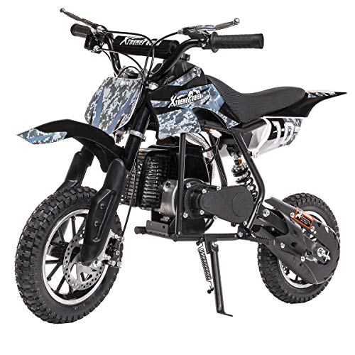 6. XtremepowerUS 49CC 2-Stroke Gas Power Mini Pocket Dirt Bike Dirt Off Road Motorcycle Ride-on