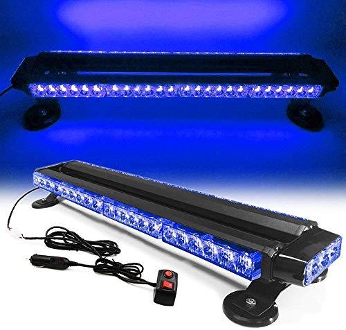 LifeUp - Kit di luci LED da 54 W, 54 LED, luce di guida, luce stroboscopica di emergenza, lampeggiante, ideale per tetto auto (7 diverse modalità di lampeggiamento) (blu)