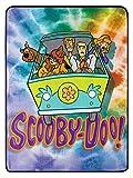 The Northwest Company Scooby Doo Tie Dye Gang Mystery Machine Soft Super Plush Blanket 46' X 60'