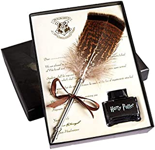 KARAMAX Antique Feather Pen Writing Quill Ink Dip Pen Set With Gift Boxes, Calligraphy Pen Set