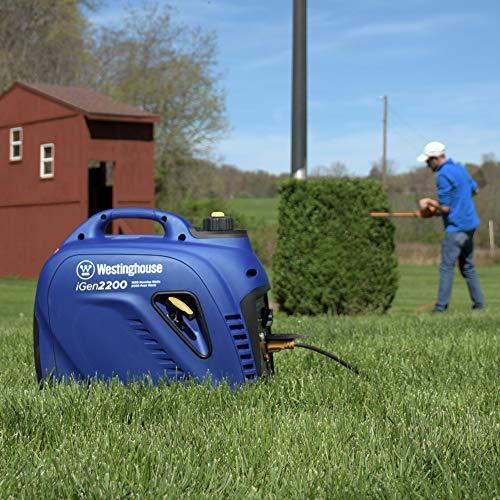 Westinghouse iGen2200 Super Quiet Portable Inverter Generator 1800 Rated & 2200 Peak Watts, Gas...