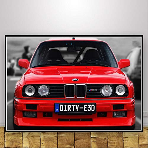Posters and prints series super car retro classic wall art canvas picture modern painting living room decoration 50x70cm frameless