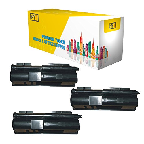 New York Toner New Compatible 3 Pack TK110 High Yield Toner for Kyocera-Mita - FS-720 FS-820 - Black