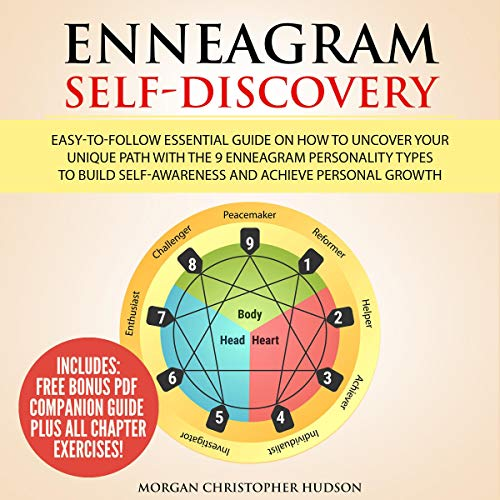 『Enneagram Self-Discovery: Easy-to-Follow Essential Guide on How to Uncover Your Unique Path with the 9 Enneagram Personality Types to Build Self-Awareness and Achieve Personal Growth』のカバーアート