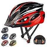 RaMokey Casco de bicicleta ligero, ajustable para bicicleta de montaña y carretera para adultos, 18...