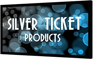 Silver Ticket Products STR Series 6 Piece Home Theater Fixed Frame 4K / 8K Ultra HD, HDTV, HDR & Active 3D Movie Projection Screen, 16:9 Format, 120