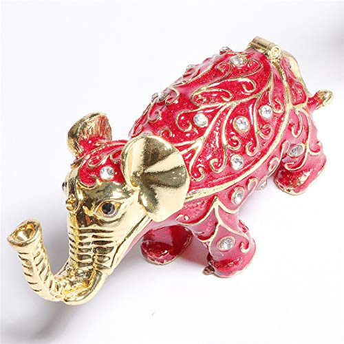 Price comparison product image Waltz&F Elephant Trinket Box Hinged Hand-Painted Figurine Collectible Ring Holder