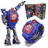 Juguete Reloj Transformers Juguetes Niños 2 en 1 Transformadores electrónicos Juguetes Reloj Robot deformado...