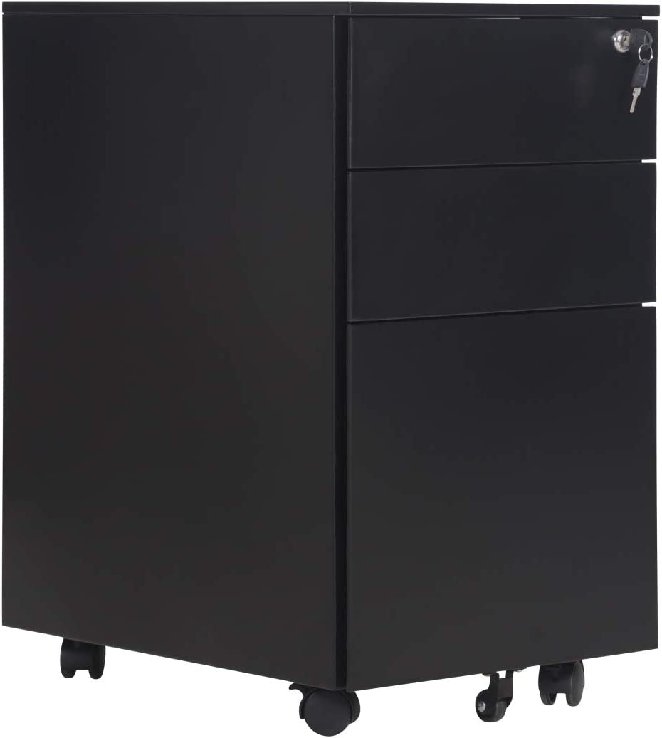 Mobile File Cabinet Metal 3 Cabinets Max 68% OFF Free Shipping Cheap Bargain Gift Pedestal Drawers Filing wit