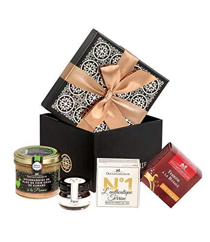 Ducs de Gascogne - Petit cadeau gourmand Délicate attention - comprend 1 gourmandise de bloc de foie gras et 3 produits d'épicerie fine – Idéal 1 pers. - 944716