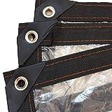 Lonas Transparente Lona Alquitranada Impermeable Toldos Perforación Borde De Lluvia Transparente Resistencia Al Desgarro Plegable Ojal De Metal De Plástico, 24 Tamaños,1mX1m(3.3x3.3ft)