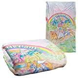 Trevco My Little Pony Retro Classic Ponies Silky Touch Super Soft Throw Blanket 36' x 58'