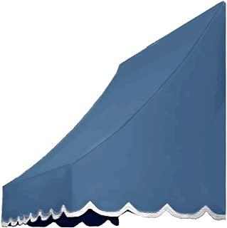Awntech 6-Feet Nantucket Window/Entry Awning, 31-Inch Height by 24-Inch Diameter, Dusty Blue