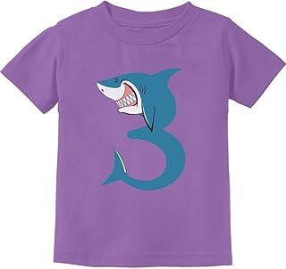 Tstars - 3rd Birthday Shark Party Gift for 3 Year Old Toddler Kids T-Shirt