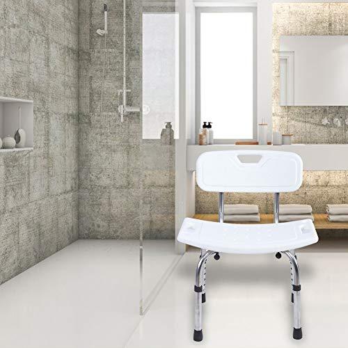 Banco de Ducha de Silla elevadora de bañera portátil, Asientos de baño, Silla de bañera médica para Adultos Ancianos discapacitados
