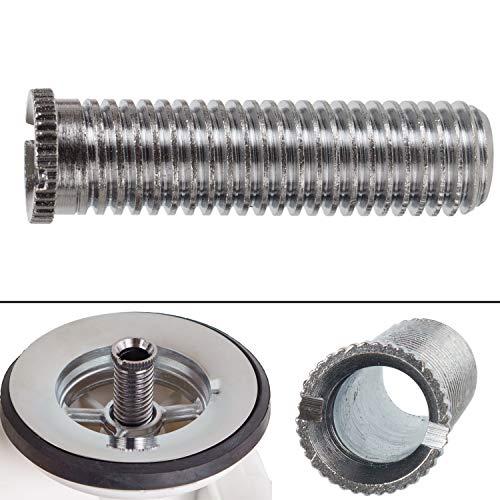 """Tornillo hueco para válvula de fregadero, tornillo M12 x 1.5 x 45, longitud 45 mm, rosca de 12 mm, cabeza de 13 mm, interior de 8 mm, universalmente adecuado para drenajes de válvulas con 1.5"""" y 3.5"""""""