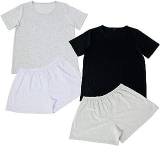 Kit 2 Conjunto de Pijamas Short Doll Básico Part.B