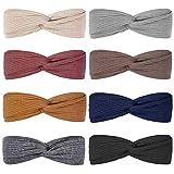 Huachi Headbands for Women Girls Top Knot Stretchy Headband Boho Twist Hair Bands Cute Fashion Accessories