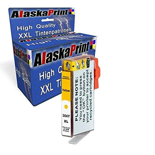 Alaska 1 Druckerpatronen Ersatz für HP 364 XL 364XL kompatibel mit HP Photosmart 5520 5524 5510 B110 C3180 7520 Deskjet 3520 3070A Officejet 4620 4622 Yellow Patronen