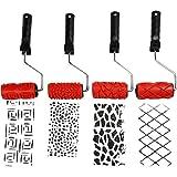 Rodillos de pinturas con patrones de diseño, ancho: 10 cm, juego de 4 diseños diferentes