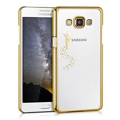 kwmobile Cover compatibile con Samsung Galaxy A5 (2015) - Custodia protettiva in silicone TPU cristallo trasparente - Back Cover Case cellulare Fatina oro/trasparente
