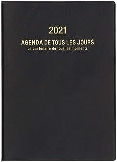 マークス 手帳 2021 スケジュール帳 ダイアリー マンスリー 2020年12月始まり A5正寸 アネ・ド・パリ ブラック 21WDR-H01-BK
